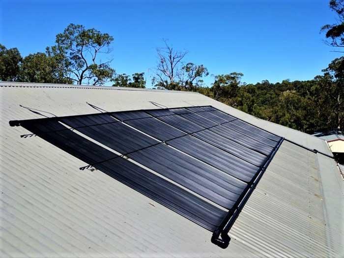 six solar heating panels for pools