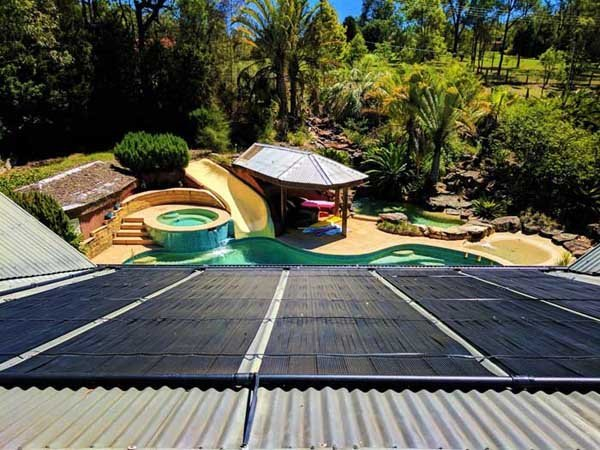 roof with solar power for pool