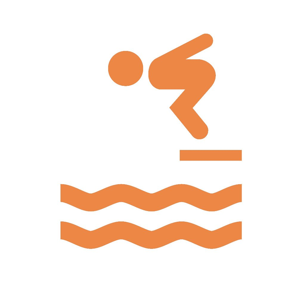 person diving icon