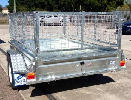 gal trailer cage, mesh trailer cage