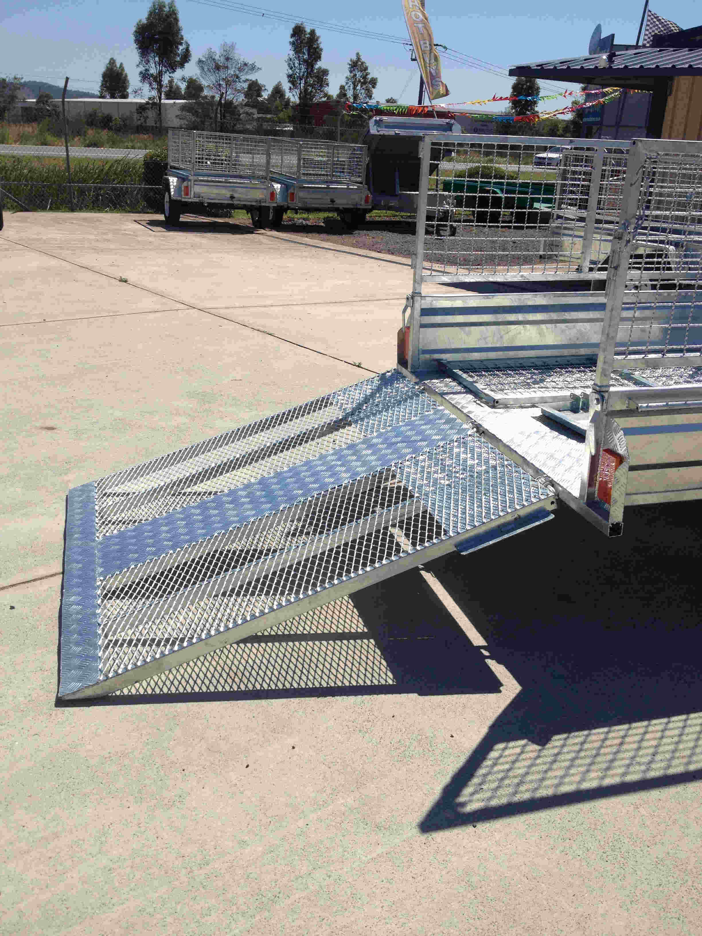 galvanised trailer ramp, Gridmesh trailer ramp
