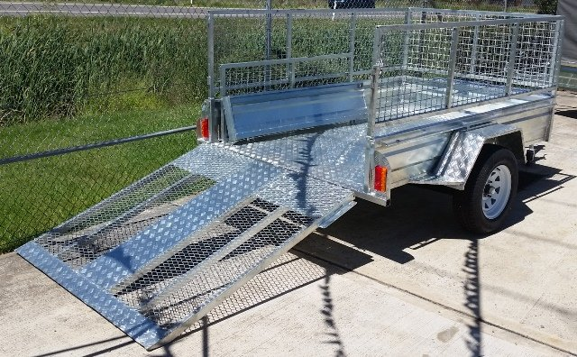 trailer ramp galvanised