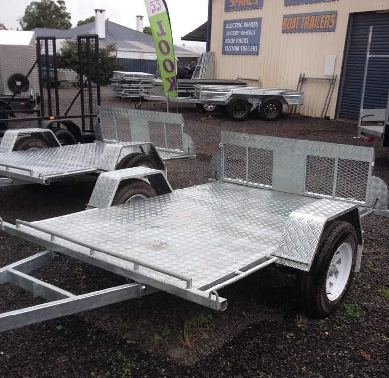 Flatbed trailer, Gal flat bed trailer, gal trailer, tilt trailer