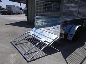 drop down cage trailer