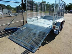 custom trailer ramp