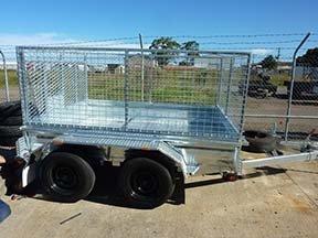 tandem trailer cage