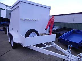 modified enclosed trailer