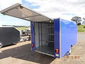 enclosed motorbike trailer