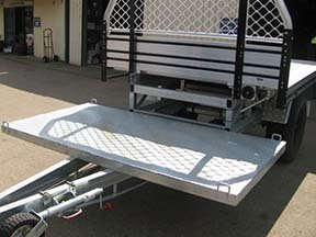 tray trailer custom