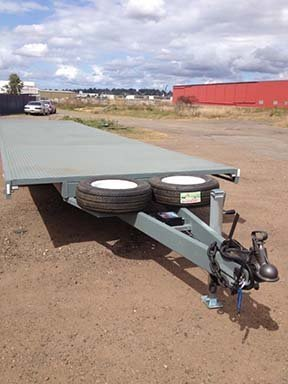 flatbed custom trailer