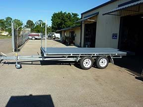 flat bed custom trailer