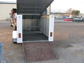 motorbike trailer enclosed