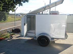 custom enclosed bike trailer