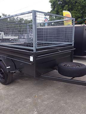 modified motorbike trailer