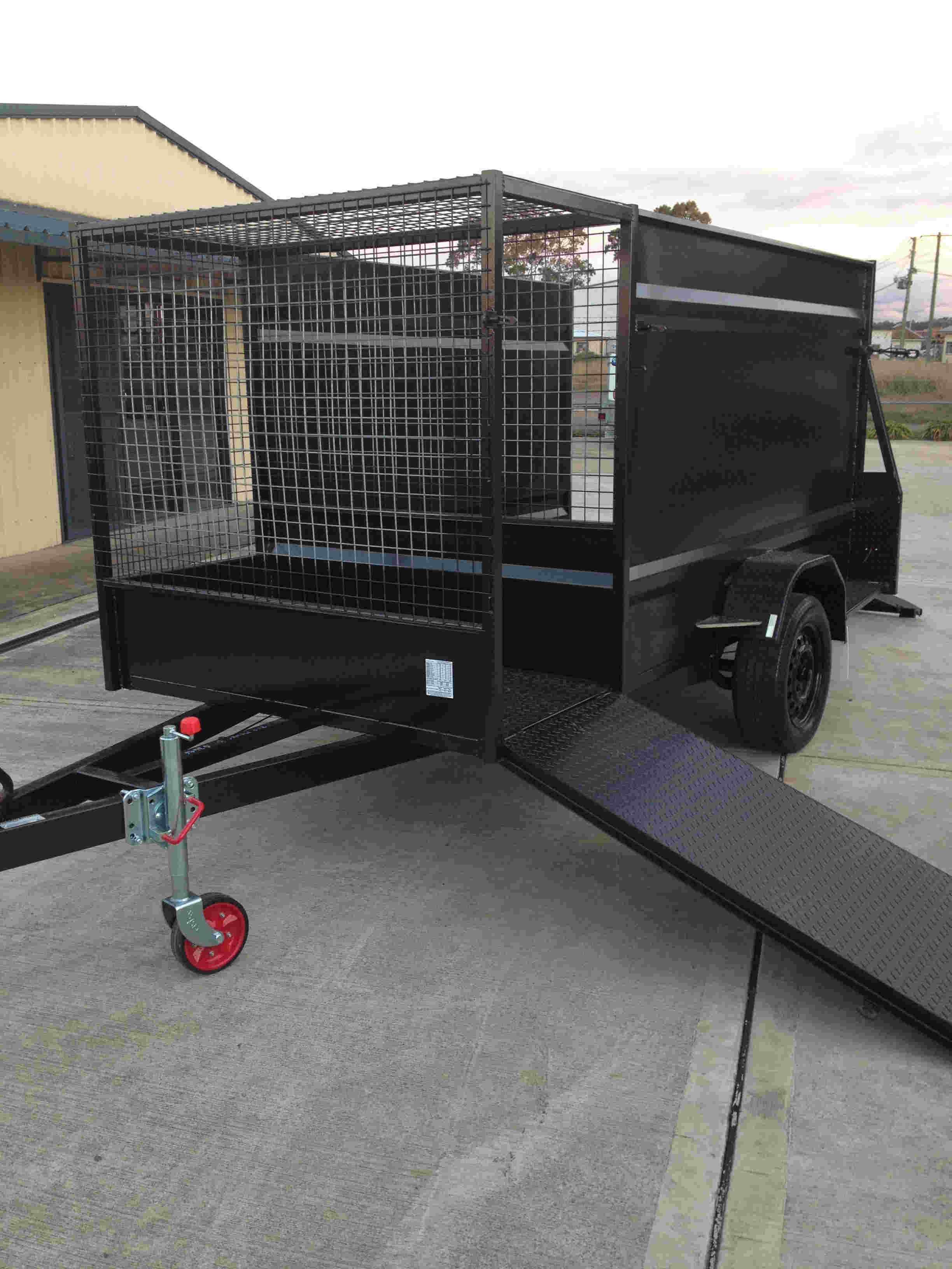 mowing trailer, mower trailer