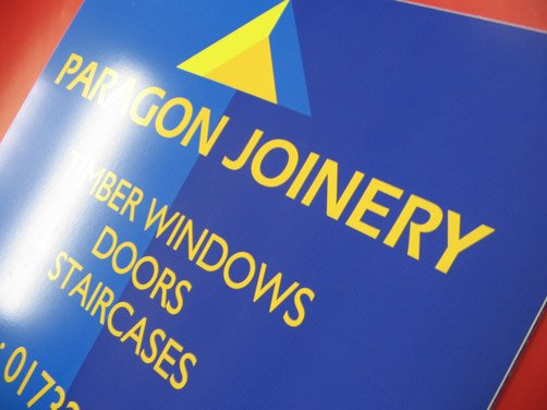 Digital printing of signage in progress