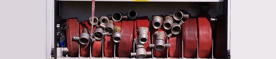 Brigade Equipment – London – Victory Fire – Fire hoses onboard an engine