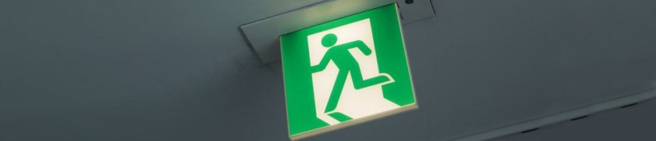 Emergency Lighting – London – Victory Fire – Emergency exit sign