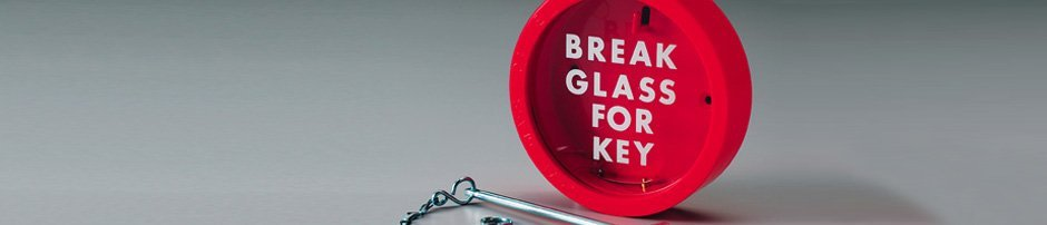 Fire Equipment – London – Victory Fire – Fire exit key glass cover