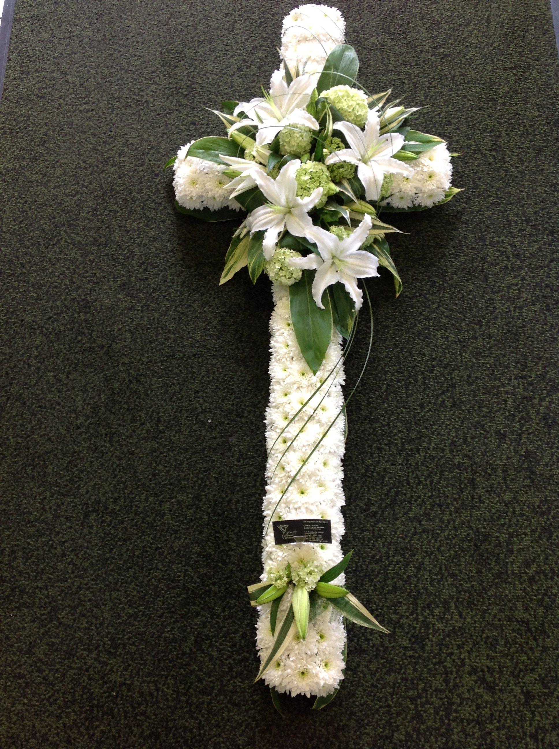 white flower cross