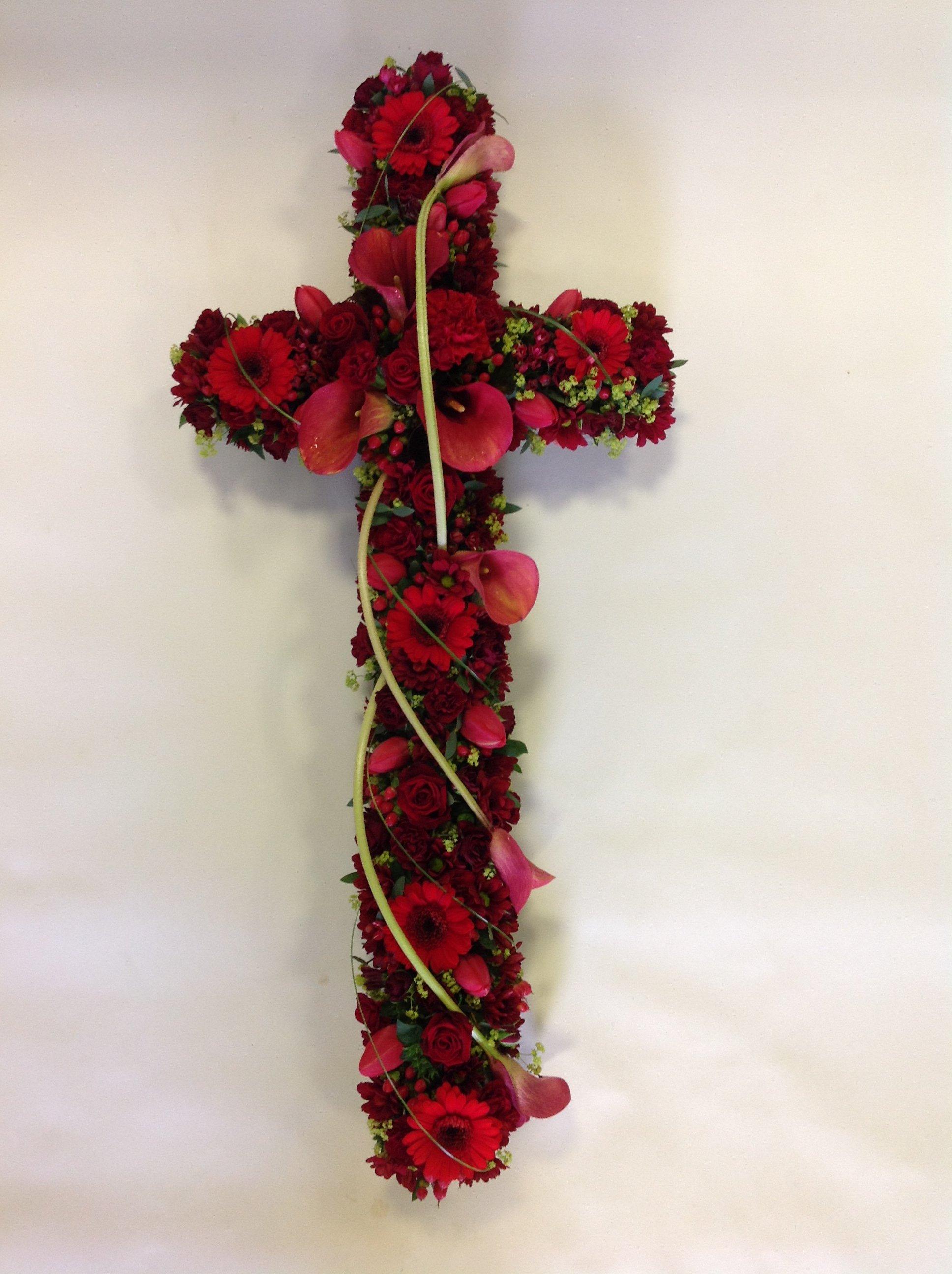 red flower cross