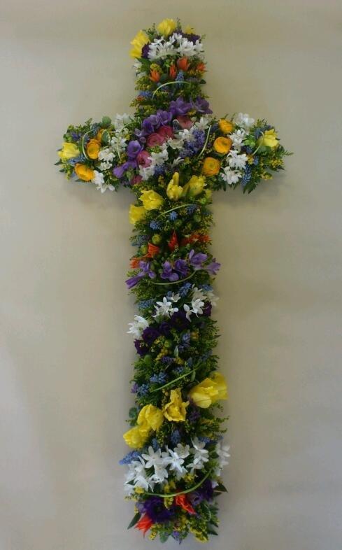 wide range of flowers' cross