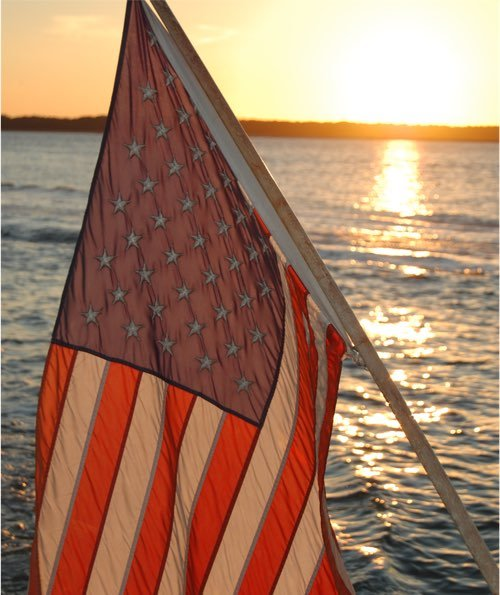 Sunset on the 4th of July from our dolphin tour boat (Hilton Head Dolphin & Nature Tours by Sonny C Charters)