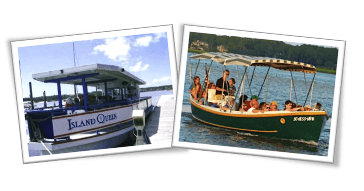 Our Island Queen & SS Pelican dolphin tour boats will take you on a fun and affordable dolphin discovery adventure around Hilton Head Island.