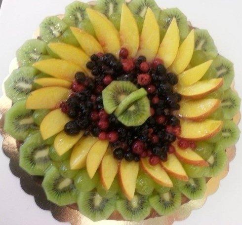 torte fresche, torte con frutta mista, torte con kiwi