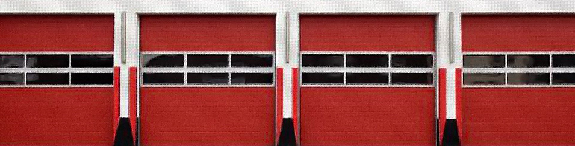 Red garage door