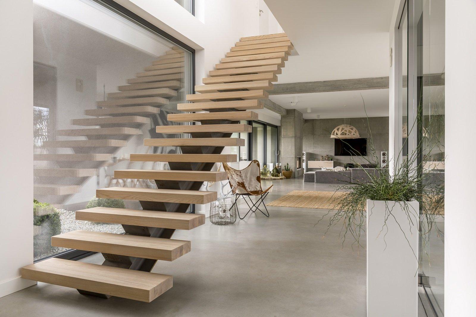 delle scale da interno in legno