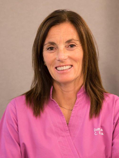 La dott.ssa Cristina Fava, co-titolare dello studio dentistico