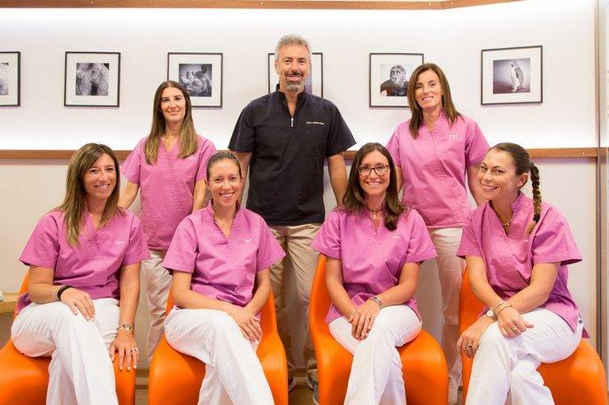 Il team completo dello studio dentistico Fava