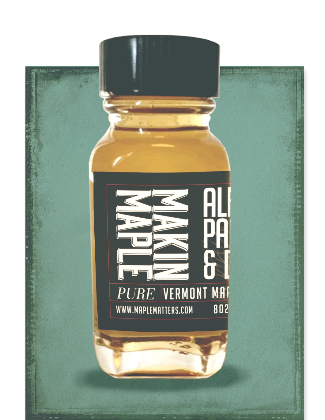 100ml Grade A VT Maple Syrup: Golden Color with Delicate Flavor