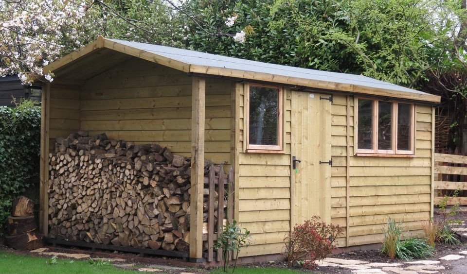 newly built wooden construction