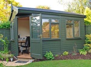 newly built garden office
