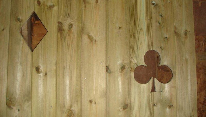 light brown wooden construction