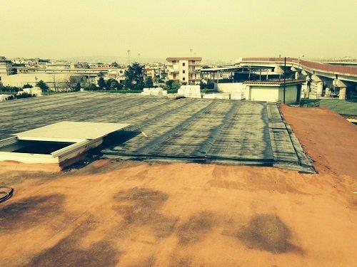Un tetto con un impermeabilizzazione