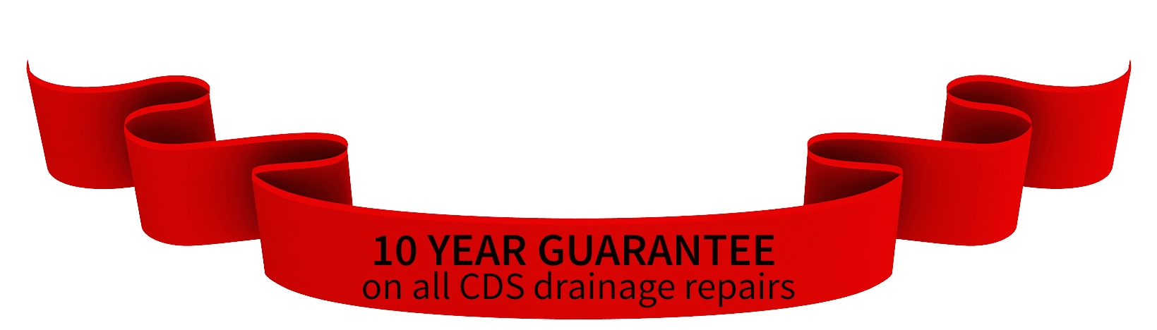 CDS Ltd offer a 10 year guarantee on all drain repairs - call Commercial Drainage Services Essex Ltd