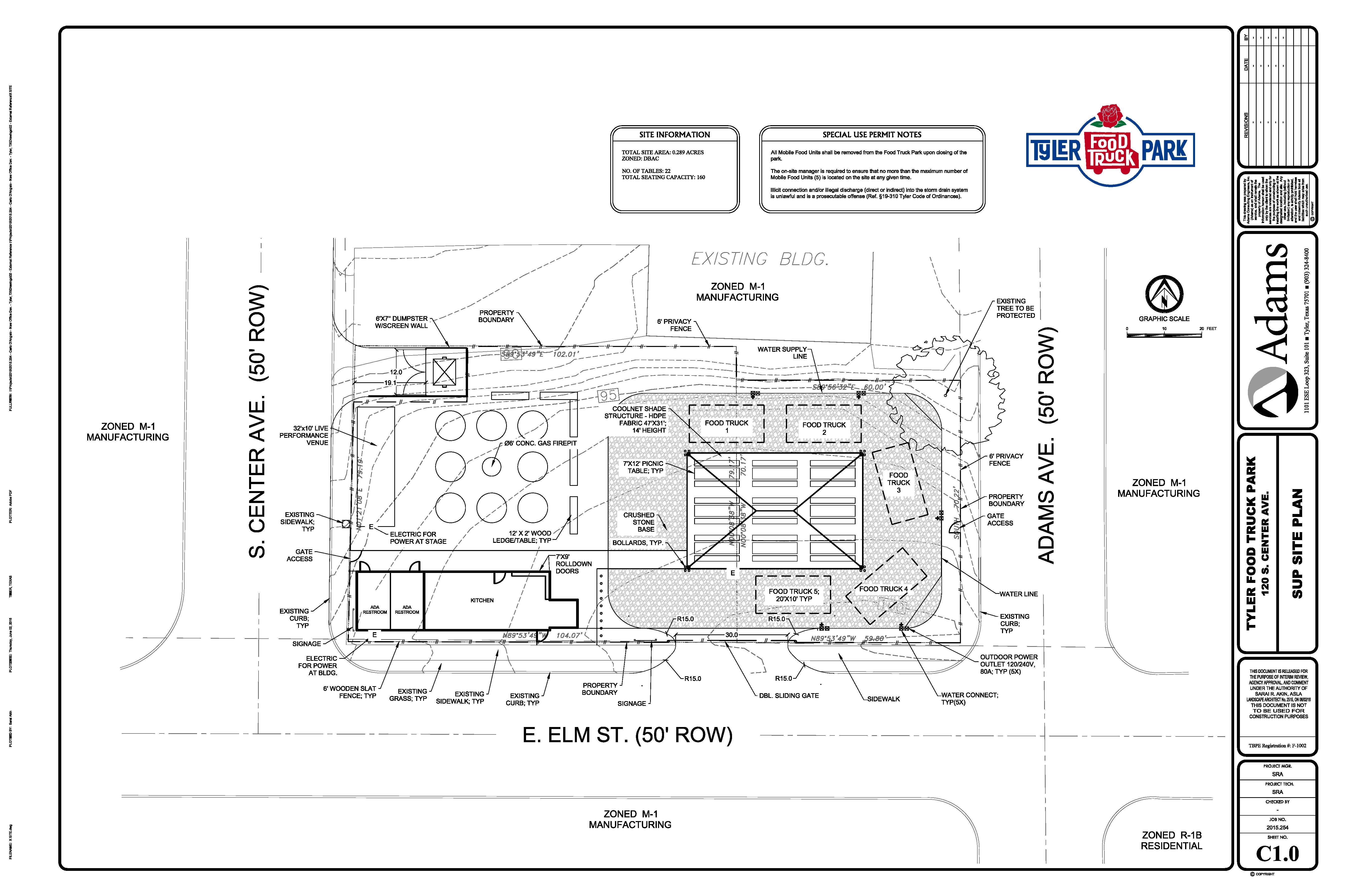 Tyler Food Truck Park - Food truck floor plan