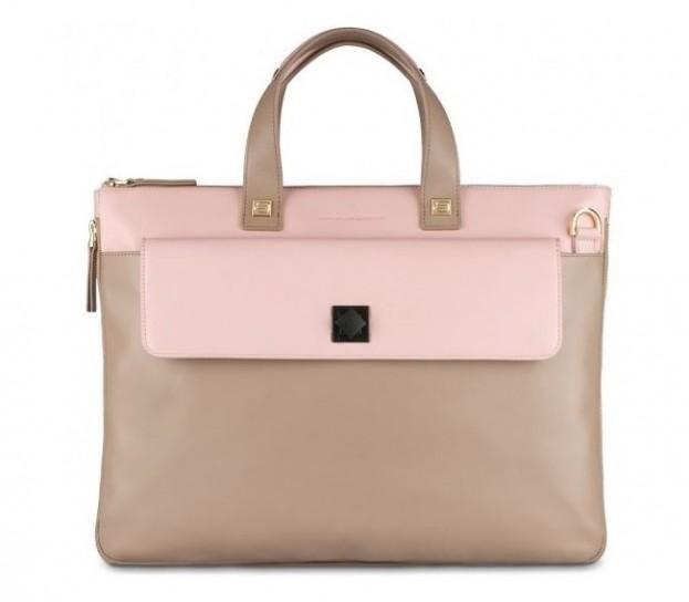 Piquadro shopper rosa beige