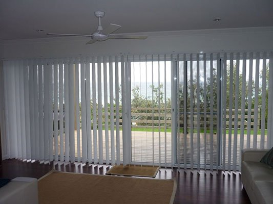 Vertical Blinds Open