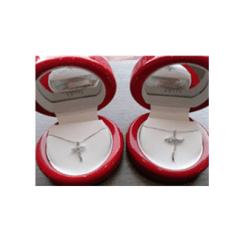 """Croci oro bianco con diamante certificato """"AKITA"""