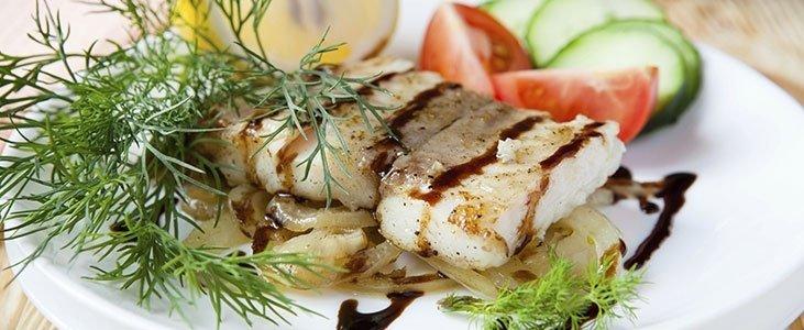 piatto di pesce fresco