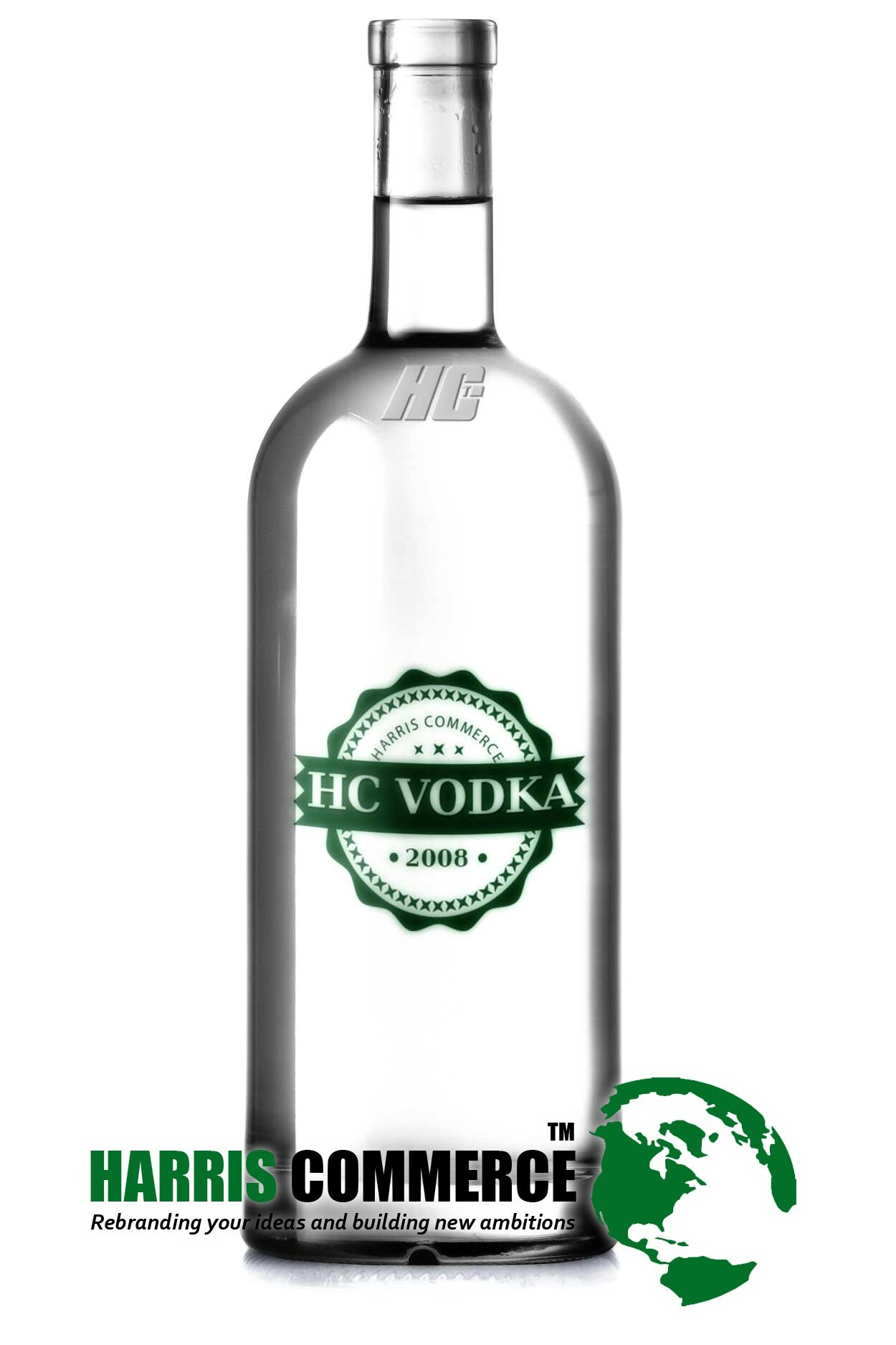 sample vodka bottle