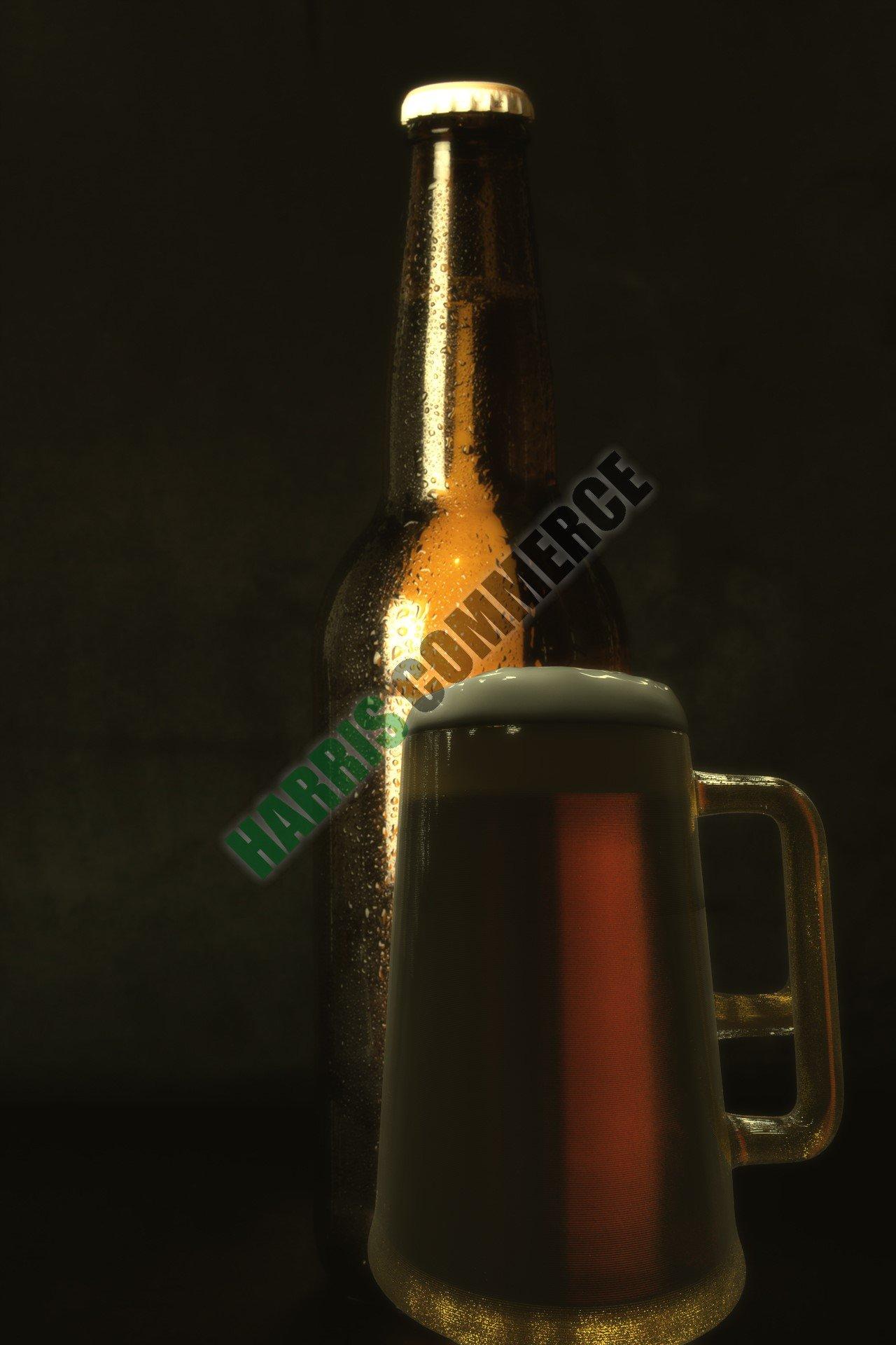 3D still animation beer with stein