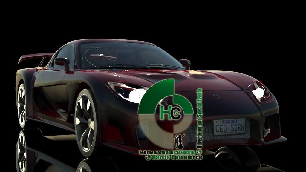 3D still animation sportscar