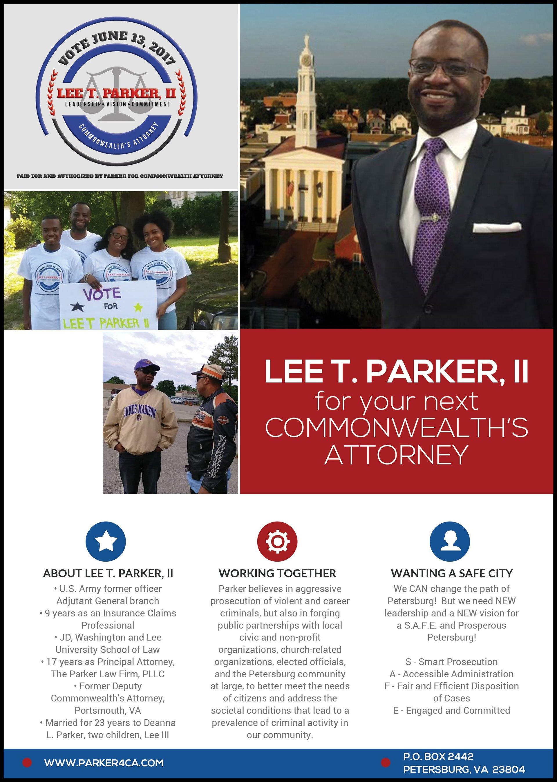 client political campaign flyer
