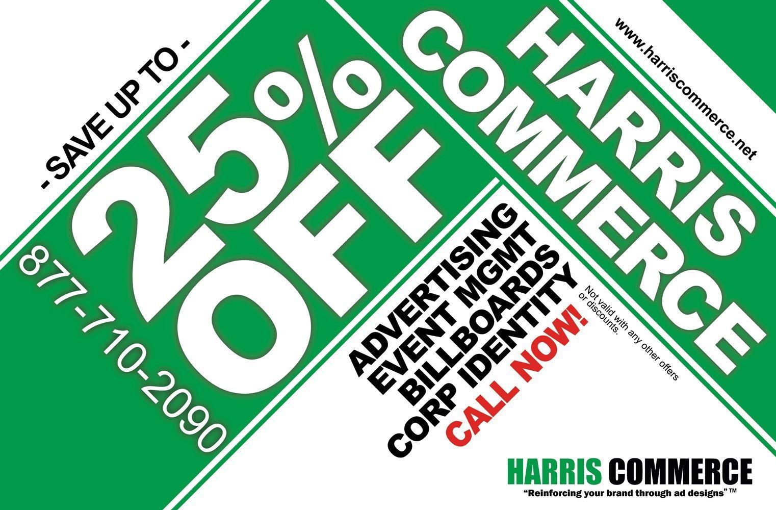 sample billboard or promotional mailer