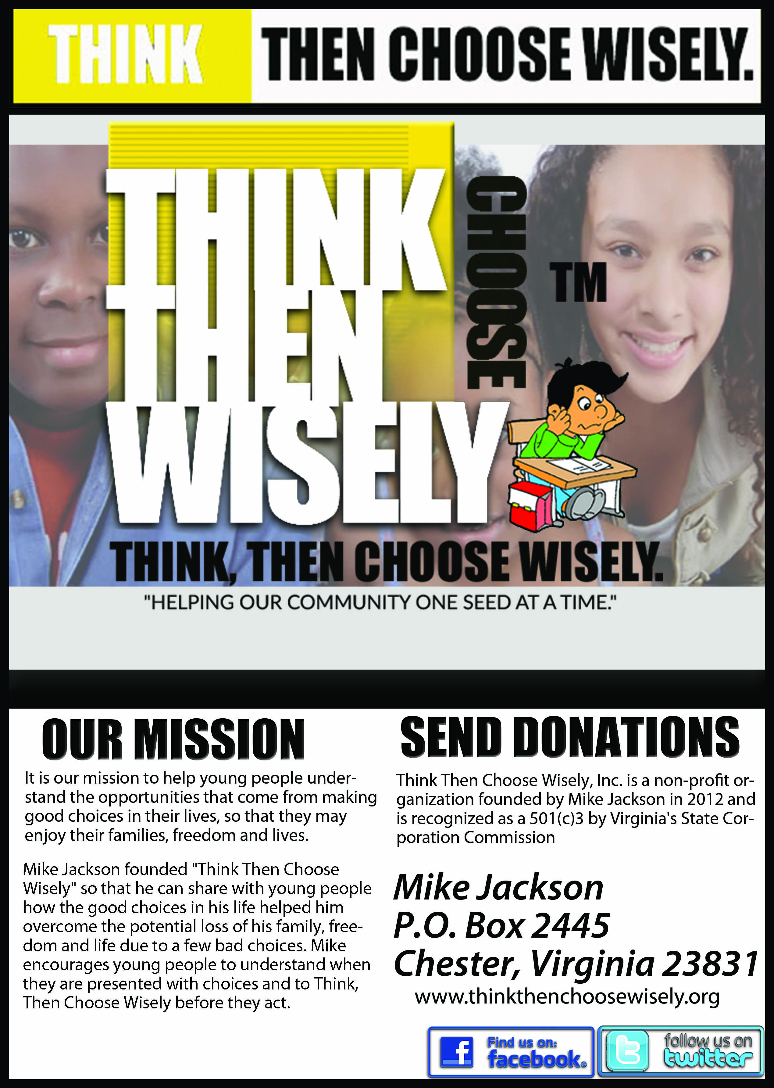 client nonprofit organization flyer